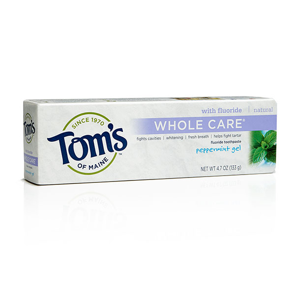 Toothpaste Anti-Cavity Whitening Fluoride Gel Peppermint, 5.5 oz, Tom's of Maine (Bath and Beauty - Oral Care Tooth Care)
