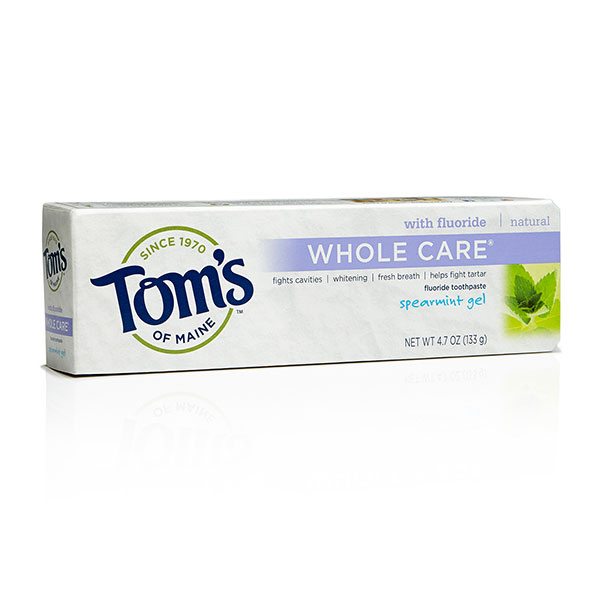 Toothpaste Anti-Cavity Whitening Fluoride Gel Spearmint, 5.5 oz, Tom's of Maine - CLICK HERE TO LEARN MORE