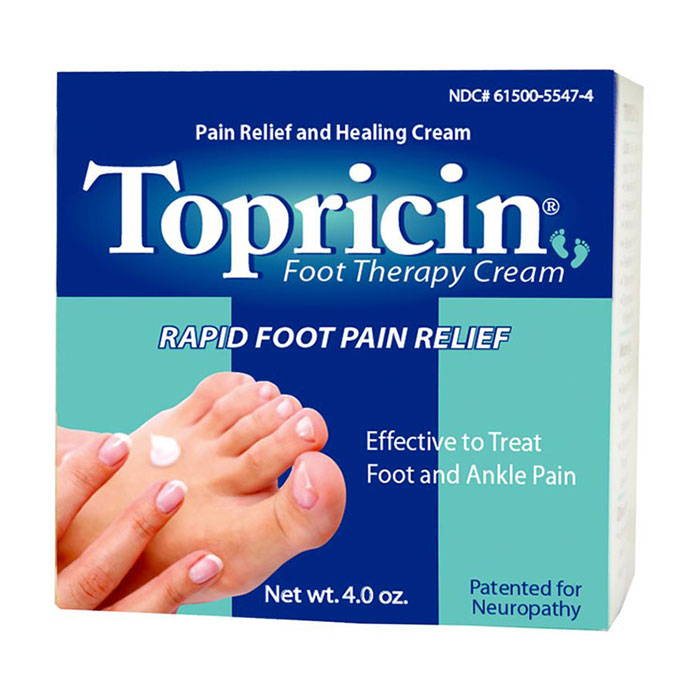 Topricin Foot Therapy Cream, Pain Relief & Healing Cream, 4 oz Jar