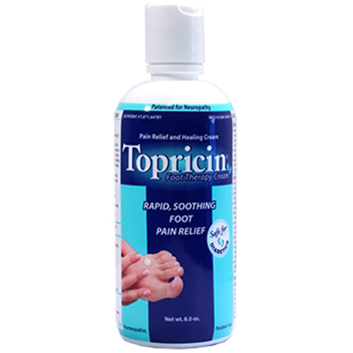 Topricin Foot Therapy Cream, Homeopathic, 8 oz Flip Top Bottle