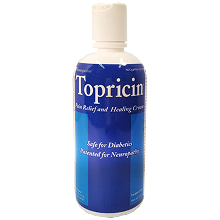 Topricin Pain Relief & Healing Cream, Homeopathic, 8 oz Flip Top Bottle