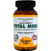 Total Mins Multi-Mineral Complex Target Mins 120 Tablets, Country Life
