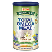 Total Omega Meal - Vanilla, 16.5 oz, Health From The Sun (Omega 3-6-9, Protein, Greens)