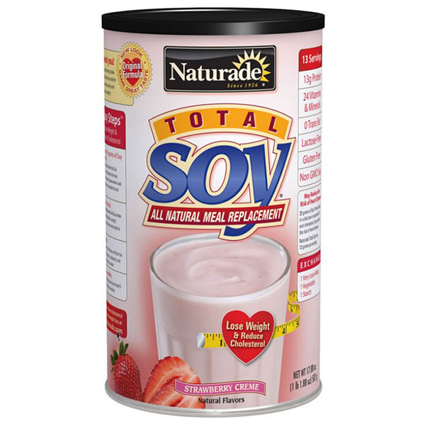 Total Soy Meal Replacement Strawberry Creme 1.1 lb from Naturade