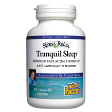 Tranquil Sleep Chewable 60 Tablets, Natural Factors