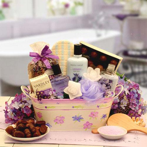 Tranquility Bath & Body Spa Gift Set, Medium Size, Elegant Gift Baskets Online