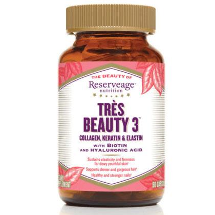 Tres Beauty 3 (Collagen, Keratin & Elastin), 90 Capsules, ReserveAge Organics