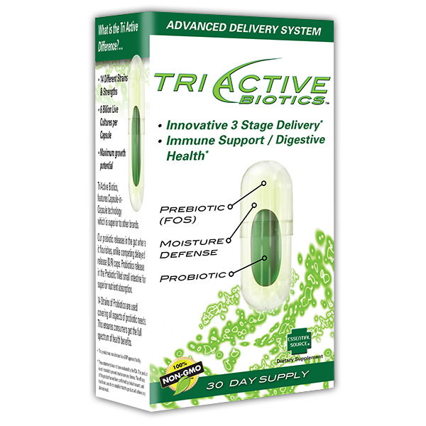 Tri Active Biotics, Advanced Probiotics, 30 Veggie Capsules, Essential Source