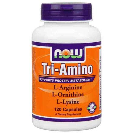 Tri-Amino Arginine / Ornithine / Lysine 120 Caps, NOW Foods