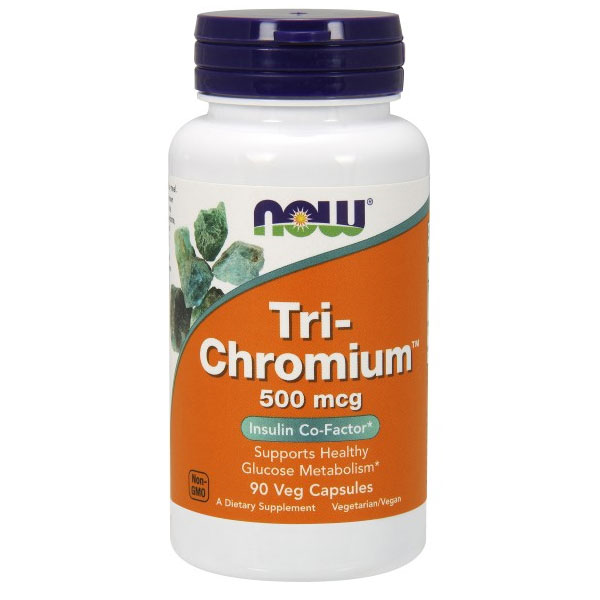 Tri-Chromium 500mcg with Cinnamon 90 Vcaps, NOW Foods