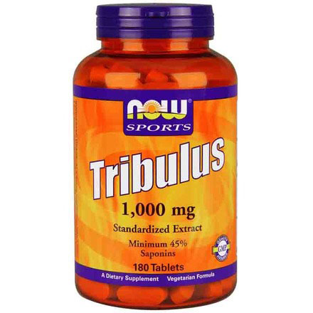 Tribulus 1000 mg, 45% Saponins, 180 Tablets, NOW Foods