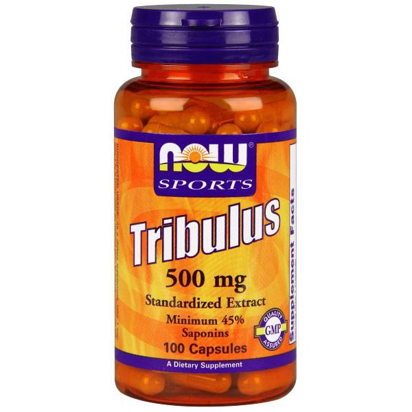 Tribulus 500mg (Tribulus Terrestris Extract) 100 Caps, NOW Foods