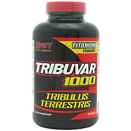 Tribuvar 1000, Tribulus Terrestris, 180 Tablets, SAN Nutrition