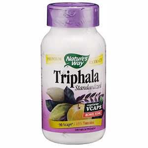 Triphala Extract Standardized 90 vegicaps from Natures Way