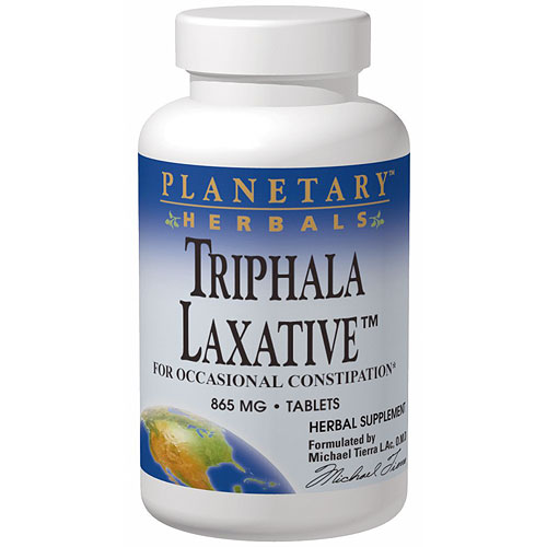 Triphala Laxative, For Occasional Constipation, 60 Tablets, Planetary Herbals