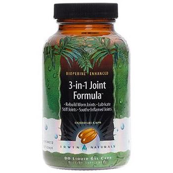 3-in-1 Joint Formula, Triple-Action, 90 Liquid Gel Caps, Irwin Naturals