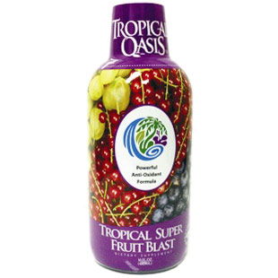 Tropical Super Fruit Blast, Antioxidant Drink, 16 oz, Tropical Oasis
