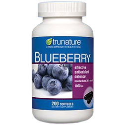 TruNature Blueberry Extract (36:1 Standardized), 200 Softgels