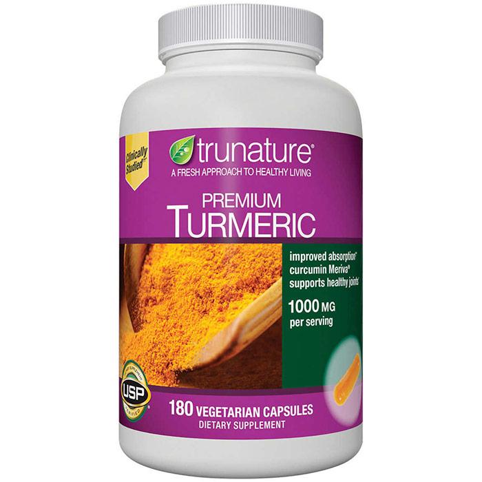 TruNature Premium Turmeric, Meriva Curcumin 1000 mg, 150 Vegetarian Capsules