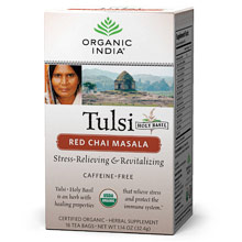 Tulsi Red Chai Masala Tea, 18 Tea Bags, Organic India