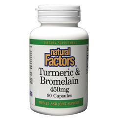Turmeric & Bromelain 90 Capsules, Natural Factors