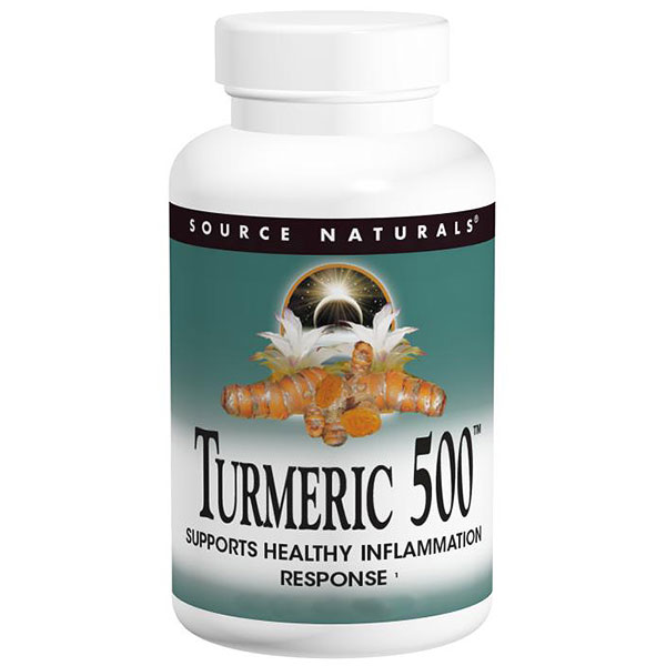 Turmeric 500, Value Size, 120 Tablets, Source Naturals