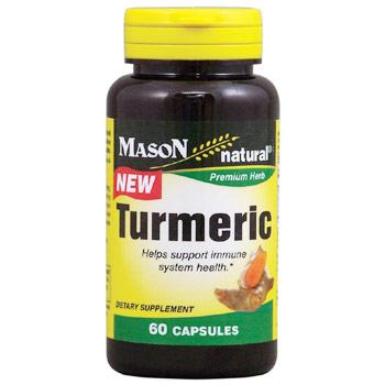 Turmeric, 60 Capsules, Mason Natural