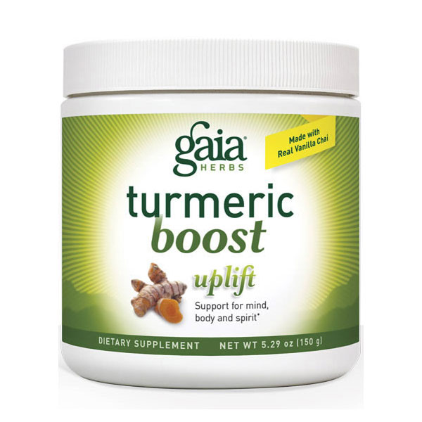 Turmeric Boost Powder - Uplift Canister, 5.29 oz, Gaia Herbs