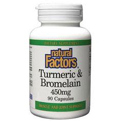 Turmeric & Bromelain 450 mg, 180 Capsules, Natural Factors