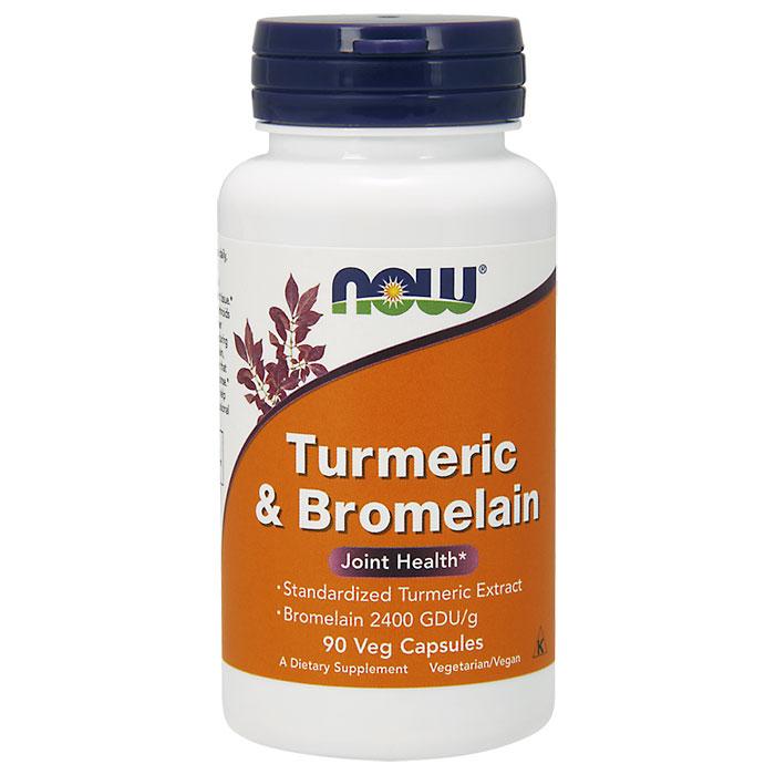 Turmeric & Bromelain, 90 Vcaps, NOW Foods