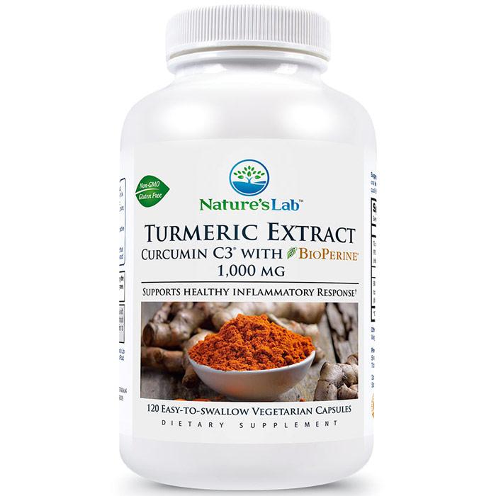 Turmeric Curcumin C3, 120 Vegetarian Capsules, Natures Lab