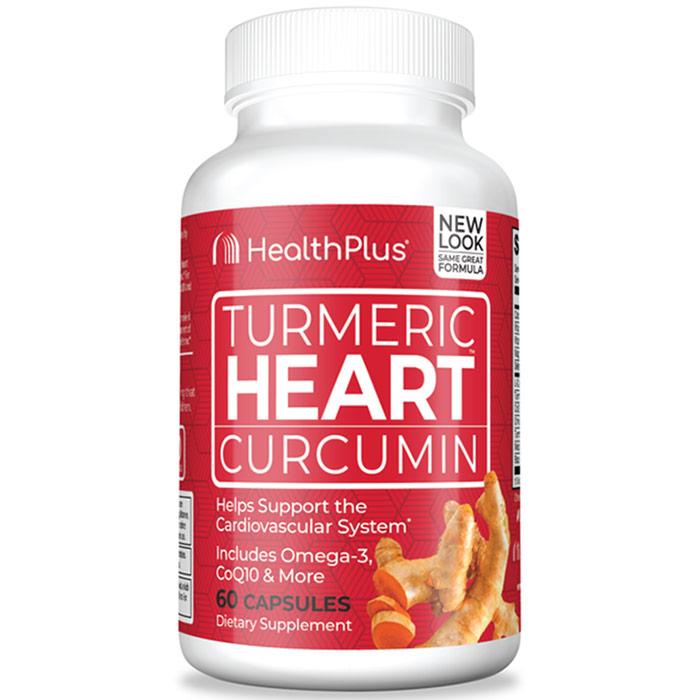 Turmeric Heart, 60 Capsules, Health Plus Inc.