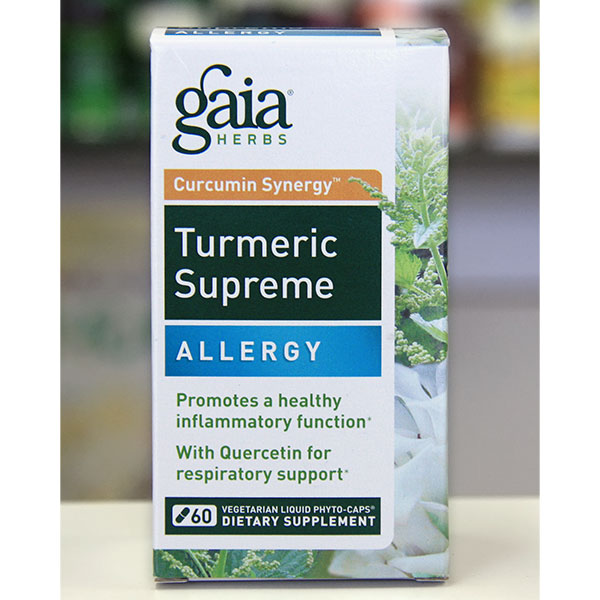 Turmeric Supreme - Allergy, 60 Vegetarian Liquid Phyto-Caps, Gaia Herbs