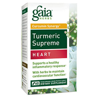 Turmeric Supreme - Heart, 60 Vegetarian Liquid Phyto-Caps, Gaia Herbs