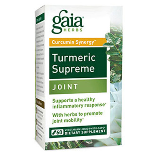 Turmeric Supreme - Joint, 60 Vegetarian Liqiud Phyto-Caps, Gaia Herbs