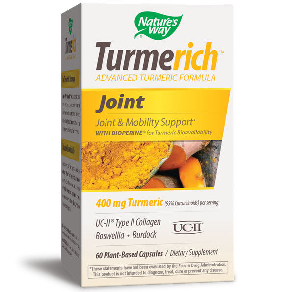 TurmeRich Joint, Turmeric Joint Formula, 60 Plant-Based Capsules, Natures Way