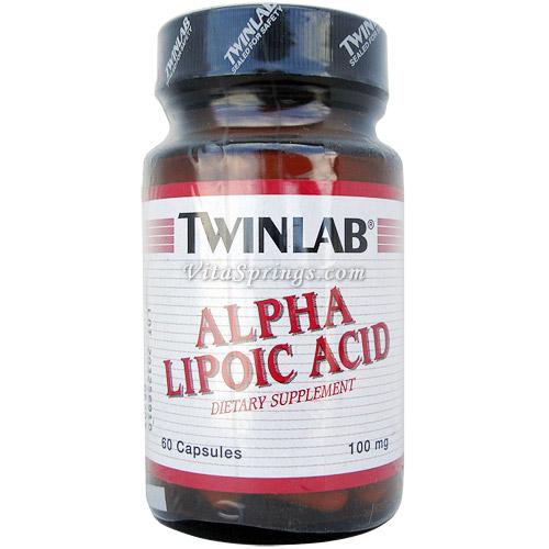 TwinLab Alpha Lipoic Acid ALA 100 mg, 60 Capsules