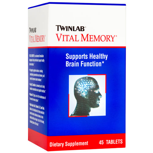 TwinLab Vital Memory, Improves Memory Associated with Aging, 45 Tablets