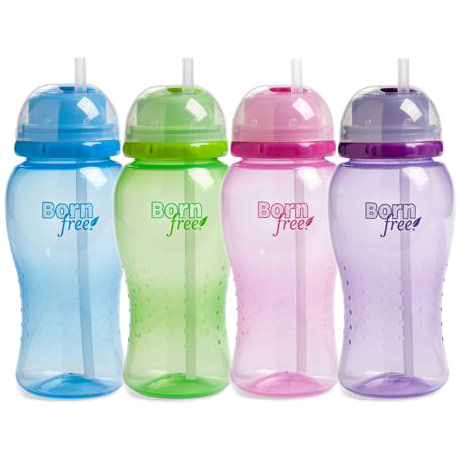 Twist & Pop Baby Straw Cup, 14 oz, Assorted Color, 4 Pack, BornFree (Born Free)