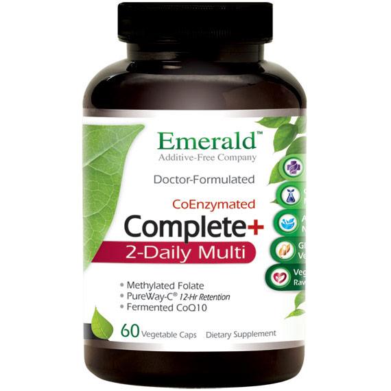 Complete Premium 2-Daily Multi, Multi Vitamin Formula, 60 Vegetable Capsules, Emerald Labs