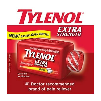 Tylenol Extra Strength, Pain Reliever & Fever Reducer, 325 Caplets