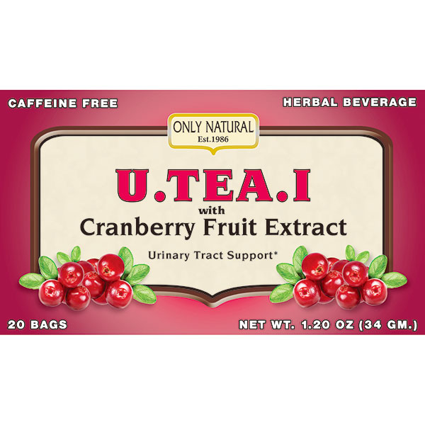 U.TEA.I with Cranberry Fruit Extract, Urinary Tract Support, 20 Tea Bags, Only Natural Inc.