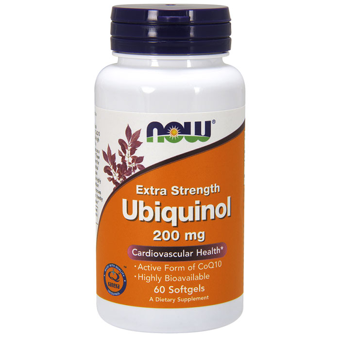 Ubiquinol 200 mg, 60 Softgels, NOW Foods