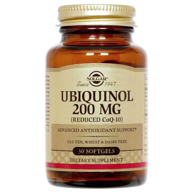 Ubiquinol 200 mg (Reduced CoQ10), 30 Softgels, Solgar