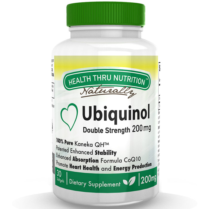Ubiquinol CoQ10 200 mg, Value Size, 90 Softgels, Health Thru Nutrition