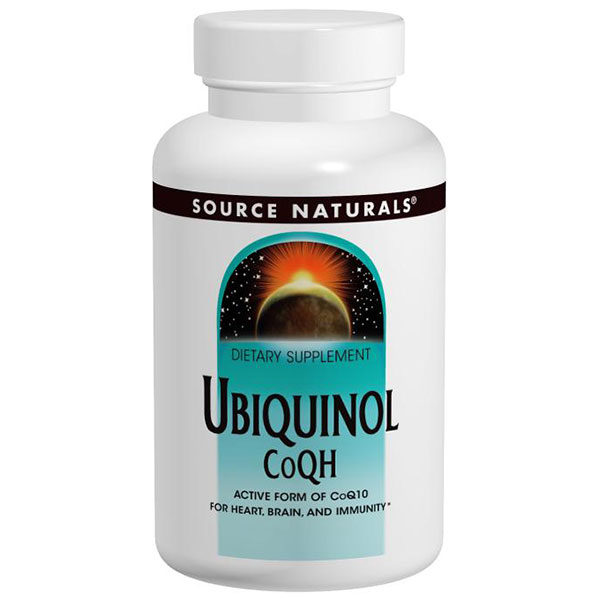 Ubiquinol CoQH 100mg, CoQ10 with Heightened Absorption, 30 Softgels, Source Naturals