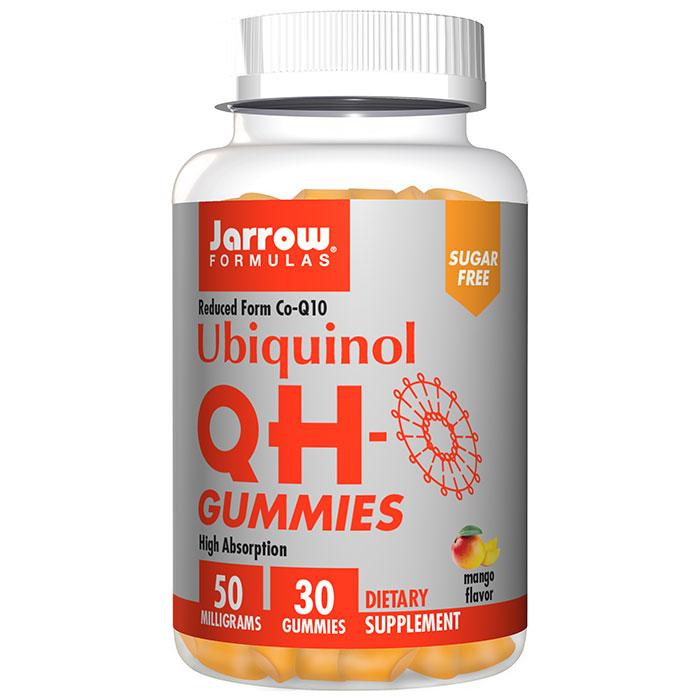 Ubiquinol QH Gummies, Chewable CoQ10, Sugar Free, 30 Gummies, Jarrow Formulas
