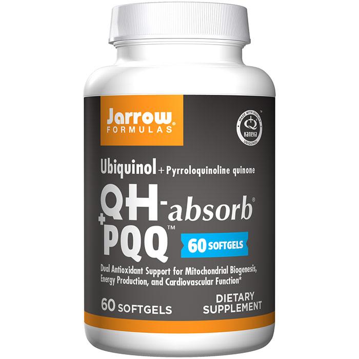 Ubiquinol QH + PQQ, 100 mg + 10 mg, 60 Softgels, Jarrow Formulas