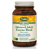 Udos Choice Advanced Adult Enzyme Blend, 60 Capsules, Flora Health