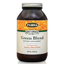 Udos Choice Green Blend Powder, 8.9 oz, Flora Health